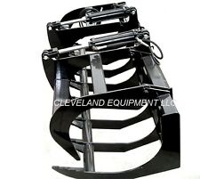 "NEW 66"" LD ROOT GRAPPLE ATTACHMENT Skid-Steer Loader Bucket Rake Caterpillar Cat"