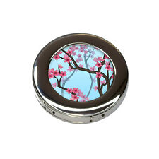 Cheery Cherry Blossoms Foldable Retractable Purse Bag Handbag Hook Hanger Holder
