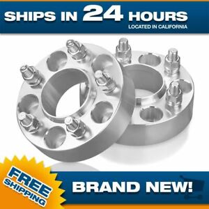 Hubcentric 5x4.25 or 5x108 Wheel Spacers Adapters 5 lug 12x1.5 studs 63.4 bore 2