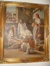 OIL PAINTING ON CANVAS RELIGIOUS JESUS CHRISTIAN CATHOLIC BIBLE SCENE F. URBINA