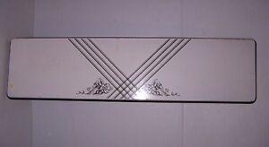 VINTAGE PORCELAIN CRYSTEEL TABLE LEAF COUNTRY  MAGNET BOARD NICE FLORAL DESIGN