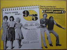 9 TO 5 / SILVER STREAK (1980) - original UK quad film/movie poster, double bill