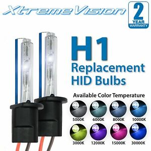 XtremeVision H1 HID Xenon Replacement Bulbs - 4300K 5000K 6000K 8000K 10000K
