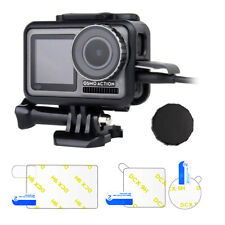 Protective Frame Case + Screen Protector Film + Lens Cover for DJI Osmo Action
