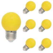 6x E27 Farbig LED Leuchtmittel Birnenform Bunt Tropfenlampe Glühbirnen Gelb