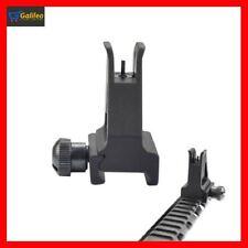 AR Tactical Iron Sight Flip Up Sights Set Front Rear Picatinny Rail Battle Sight