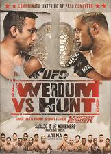 FABRICIO WERDUM MARK HUNT SIGNED AUTO'D PROGRAM PSA/DNA COA UFC 180 PRIDE FC