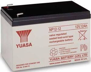 3 X YUASA 12V 12AH (14AH 15AH) RECHARGEABLE BATTERY FOR SAKURA ELECTRIC BIKE