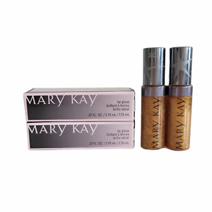 Mary Kay Gold Sequins Lip Gloss NIB Limited Edition Discontinued Lot of 2
