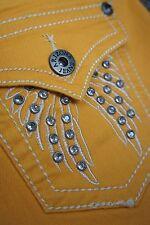ARIZONA * Jeans Curry Senf * Stickerei Strass * Like An Angel * Gr 38/40