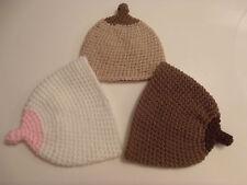 Crochet Boob Baby Hat, Breastfeeding Beanie, Newborn to 3 Months Boob Beanie