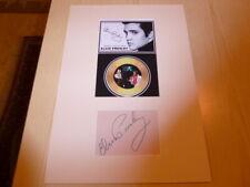 Elvis Presley photograph & autograph card