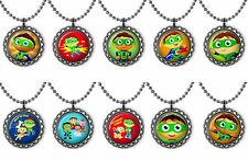 Super Why Party Lot of 10 Bottle Cap Necklace Birthday Party Favors, Gifts