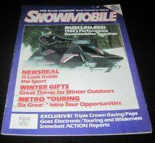 Vintage Snowmobile Magazine polaris yamaha ski doo Kawasaki arctic cat 1983
