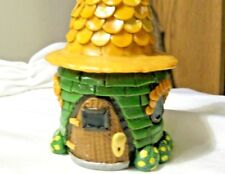 Country Cottage Ooak Polymer Fairy Gnome doll trinket box stash home mini Spring