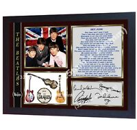 The Beatles Hey Jude signed photo print autographed Framed