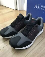 Armani Jeans Lightweight Anthracite Sneakers Trainers Shoes UK 8 EU 42 Retro New