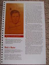 Three Finger Brown 1989 Baseball Card Engagement Book w/ 1911 Turkey Red Silks