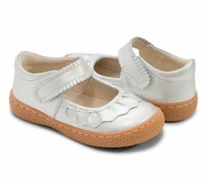NEW Girls Livie & Luca Silver Metallic Ruche mary jane shoes Sz 2 Youth Big Girl
