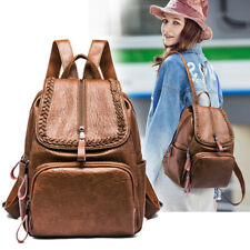 Soft Lambskin Genuine Leather Women Backpack Handbag Shoulder School RetroQR Bag