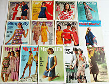 Simplicity Fashion News McCall's Step-by-Step pattern booklets lot of 13 1970s