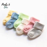 3 Pairs Unisex Thick Cotton Baby Toddler Girl Boy Anti-Slip Socks Shoes Slipper