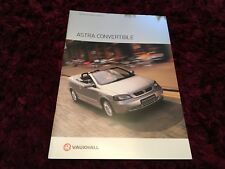 Vauxhall Astra Convertible UK Brochure 2003 Edition 1
