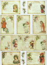 Rice Paper for Decoupage Scrapbooking Sheet Christmas Cards