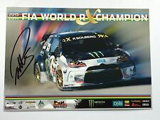 Petter Solberg Hand Signed World Champion Rally Poster Rare 2.