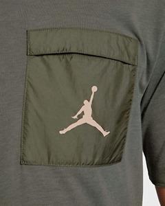 $50 Jordan Air 23 Engineered Cool Men Pocket T-Shirt Olive AJ1065 334