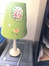 1 Circo Child's Baby Nursery Décor Owl Bedroom Electric Wood Table Lamps w/Shade