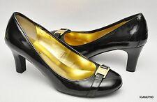 New Lauren Ralph Lauren SHELBI Faux Leather Round Toe Classic Pump Heel Black *6