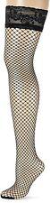 GLAMORY Women's Mesh Hold-Up Stockings, 5 Den, Black Schwarz, XXX-Large