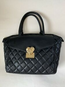 Love Moschino Black Quilted Leather Purse