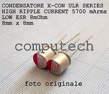 470uF 6,3V 105°C Condensatori a Stato solido polimerici ULR serie LOW ESR 2pz