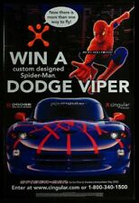 "Original 2002 SPIDER-MAN DODGE VIPER CINGULAR Multi Ad Banner HUGE 47"" X 71 3/4"""