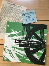"""Program booklet """"The Rival"""" The Green Car 1968 + criticism and Ticket Theater Mainz"""