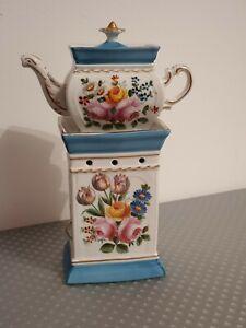 Ancienne Tisanière En Porcelaine De Paris Signé