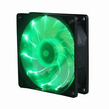 Ultra Quiet Slient Green LED fan 92mm 12V DC 80CFM PC Case Radiator Cooling Fan