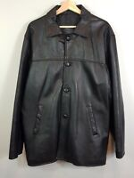 DORY'S Mens Size XL Black Leather Jacket - Tailored in Australia