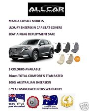 Sheepskin Car Seatcovers for a Mazda CX9, 5 colours, Seat Airbag Safe, 30mm TC