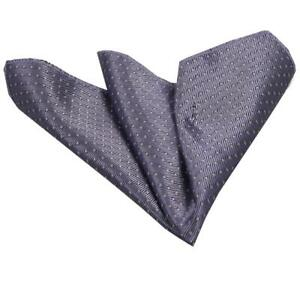 Celino Grey with White Pattern Pocket Square for Men Silk Handkerchief for Suit