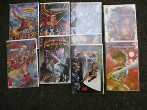 lot of 9 collectible comic books avengelyne,Glory , 1990`s sealed