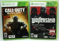 2 Factory Sealed Xbox 360 Call of Duty Black Ops III & Wolfenstein The New Order