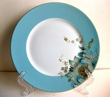 EUC ELIZA SPRING TURQUOISE BY 222 FIFTH PORCELAIN DINNER PLATE, 10 7/8 INCHES