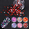 Nail Glitter Sequins Heart Shape Colorful Flakes Nail Art Paillette Decoration
