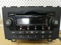 HONDA CRV RADIO/CD PLAYER ,6 CD STACKER IN DASH, RE 03/07-10/12