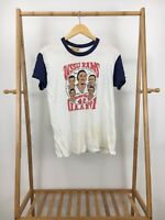 VTG 70s Hanes WSSU Rams Basketball Super Thin Ringer T-Shirt Size L USA