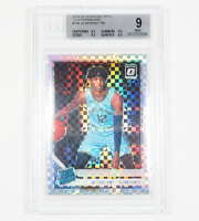 JA MORANT Grizzlies 2019-2020 NBA Donruss OPTIC CHECKERBOARD RATED ROOKIE BGS 9