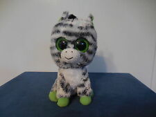 Ty Beanie Boos Zig Zag the Zebra Orig Version No Glitter Eyes Purple Tush Tag